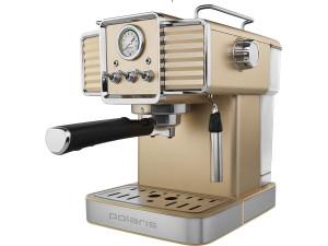 Кофеварка Polaris PCM1538E Adore Crema (шампань/белый)
