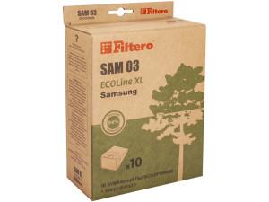 Пылесборники Filtero SAM03 Ecoline (10+фильтр)