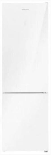 Холодильник HOLBERG HRB2001NDGW белое стекло