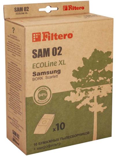 Пылесборники Filtero SAM02 Ecoline (10+фильтр)